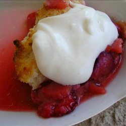 Strawberry Rhubarb Cobbler With Candied Ginger (oamc) recipe
