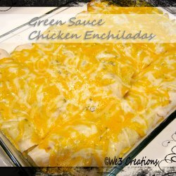 Chicken Enchiladas With Green Sauce recipe