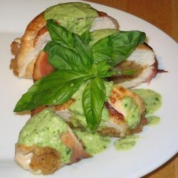 Stuffed Lemon Chicken With Basil Sauce recipe