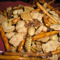 Sweet and Savory Snack Mix recipe
