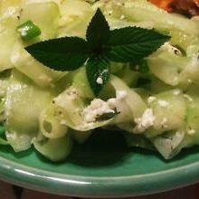 Cucumber Mint Salad With Goat Cheese recipe