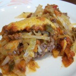 Meat Cabbage Casserole recipe