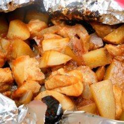 BBQ Chicken & Potato Packets Aka BBQ Kisses recipe