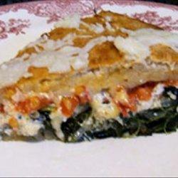 Deep-dish Veggie Pizza recipe