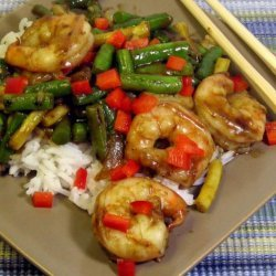 Shrimp With Green Beans in Thai Chili Sauce recipe