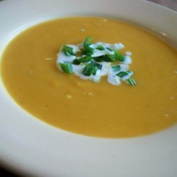 Sweet Potato and Blue Cheese Soup recipe