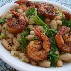 Shrimp With Cannellini Bean Salad recipe