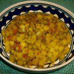Aloo Matar Ki Sabzi  (Potato N Peas Curry) recipe