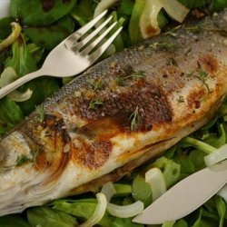 Sea Bass Baked With Onion and Honey recipe