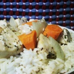 Roast Herbed Chicken and Veggies recipe