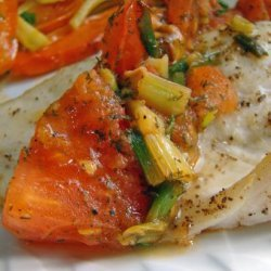 Grilled Halibut Fillets With Tomato and Dill recipe