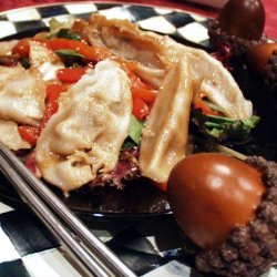 Pot Sticker and Roasted Pepper Salad recipe