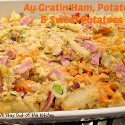 Ham and Potatoes Au Gratin recipe