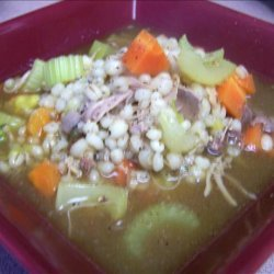 Turkey Barley Chunky Soup recipe