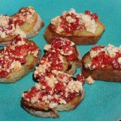 Roasted Red Pepper Bruschetta recipe