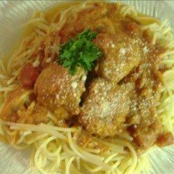 Spaghetti and Turkey Meatballs recipe