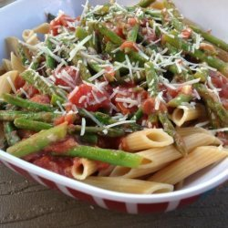 Penne With Asparagus Sauce recipe