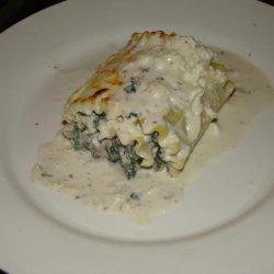 Lasagna Roll-Ups With Gorgonzola Cream Sauce recipe
