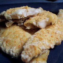 Parmesan and Cornmeal Crusted Fish Fillets recipe