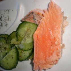 Salmon With Cucumber Salad recipe
