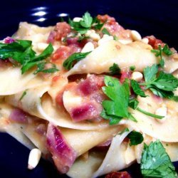 Pappardelle With Artichokes and Sun-Dried Tomatoes recipe