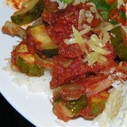 Roasted Garlic Zucchini and Tomatoes recipe