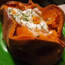 Twice Baked Sweet Potatoes with Ricotta Cheese recipe