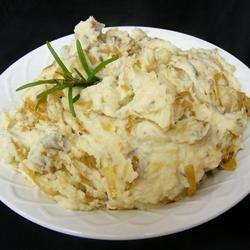 Caramelized Onion and Horseradish Smashed Potatoes recipe