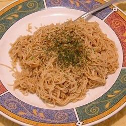 Spaghetti With Peanut Butter Sauce recipe