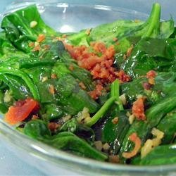 Pan Fried Spinach recipe