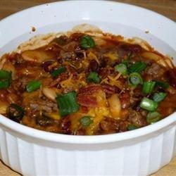 Three Bean Potluck Casserole recipe