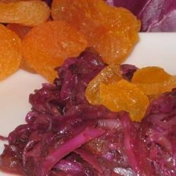 Red Cabbage With Apricots And Balsamic Vinegar recipe