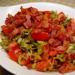 Creamed Leeks With Tarragon, Tomatoes, and Bacon recipe