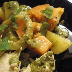 Pesto Marinated Chicken With Roasted Vegetables recipe