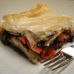 Roasted Vegetable-Phyllo Lasagna recipe