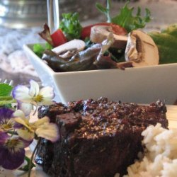 Grilled Lamb Chops With Red Wine, Garlic and Honey Glaze recipe
