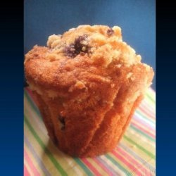 Blueberry Muffins With Streusel Topping recipe