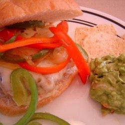 Chicken Fajita Burgers recipe
