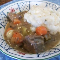 Irish Lamb Stew With Goat Cheese Dumplings recipe