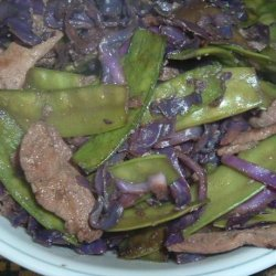 Ginger Pork with Mushrooms and Snow Peas recipe