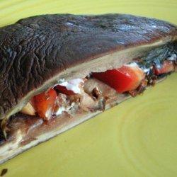 Portabella Panini With Gorgonzola Cheese and Sun-Dried Tomatoes recipe