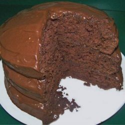 Chocolate Layer Cake With Chocolate Cream Cheese Frosting recipe