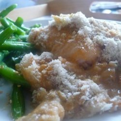 Baked Fish With Lemon Mushroom Sauce recipe