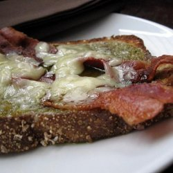 Open Faced Bacon and Cheese Sandwich With Jalapeno Jelly recipe