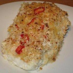 Chili and Lemon Crumbed White Fish With Coconut Rice recipe