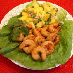 Grilled Shrimp With Mango Salsa recipe