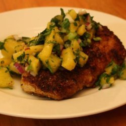 Macadamia and Coconut Crusted Mahi Mahi With Pineapple Salsa recipe