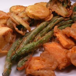 Tempura Vegetables (Also Fish, Shrimp or Calamari Rings) recipe