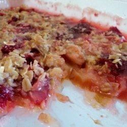 Classic Old-Fashioned Rhubarb Strawberry Crisp recipe