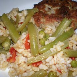 Easy Vegetarian Brown Rice Pilaf recipe